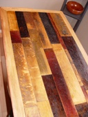 Custom design Original Wine Stained Oak Heads from the Wine Barrels.