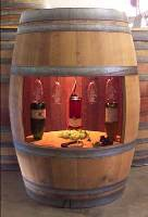Full Used Wine Barrel Cabinet with Light